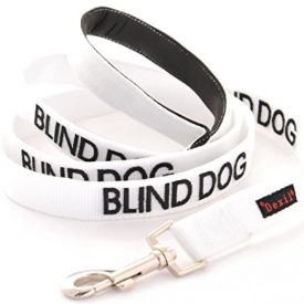 Blind Dog White Color Coded Alert Leash
