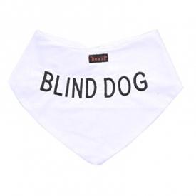 Blind Dog White Dog Bandana