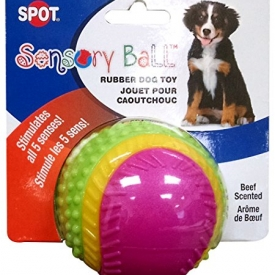 Ethical Pets Sensory Ball Dog Toy, 3.25″