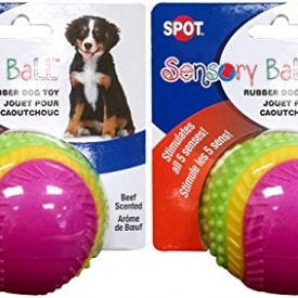 Spot Sensory Rubber Sented Ball Dog Toy Size:2.5″ Pack of 2